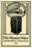 His Master's Voice Instrument Catalogue 1921