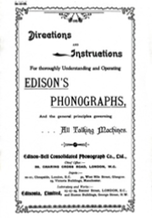 Directions & Instructions for Thoroughly Understanding & Operating Edison's Phonographs
